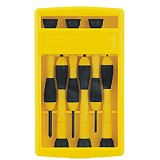 STANLEY 6-Piece Bi-Material Handle Precision Screwdriver Set [66-052-23] - Obeng Set